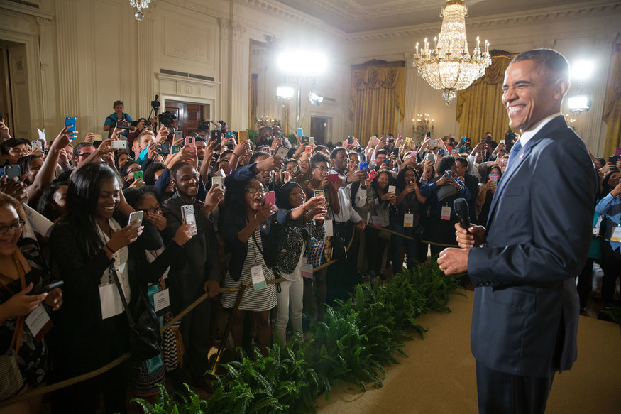 President Barack Obama drops by the Beating the Odds Summit